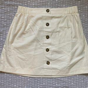 White cotton lightweight skirt